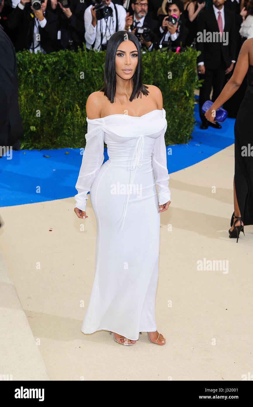 Nueva York, NY, EUA. El 1 de mayo de 2017. El 01 de mayo de 2017 - Nueva York, Nueva York - Kim Kardashian West. Imagen De Stock