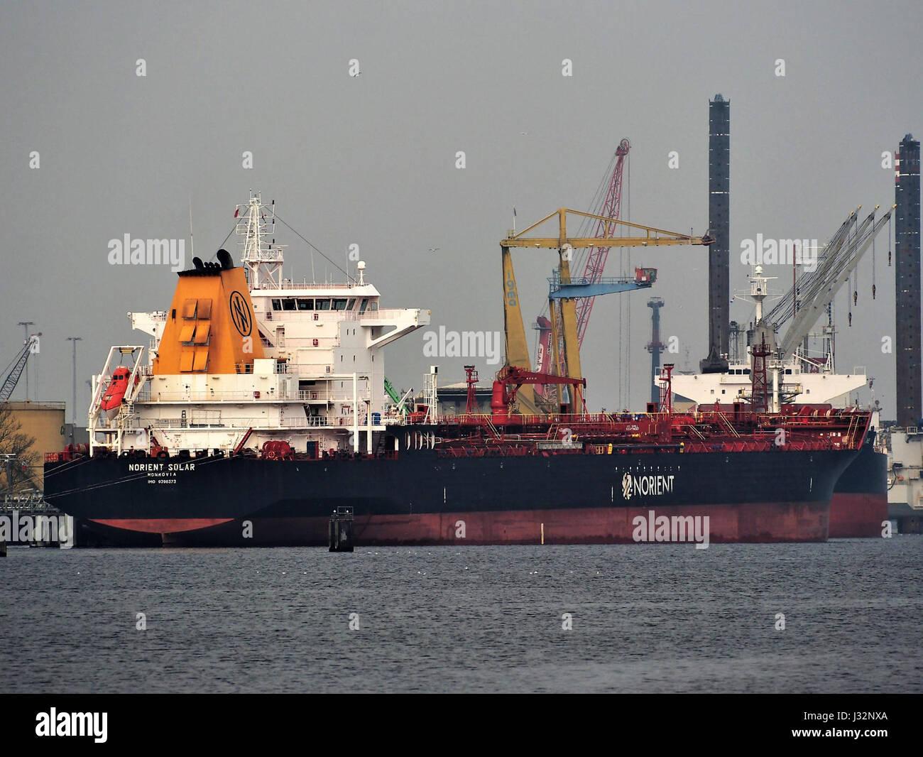 Norient Solar (barco, 2008) La OMI 9396373 Puerto de Amsterdam Foto de stock