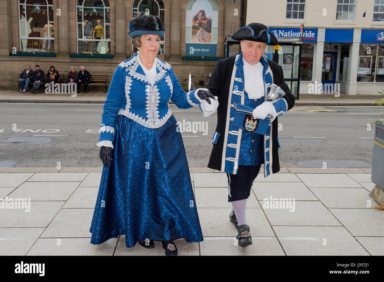 Pedro y Joan Dauncey - Melksham. Este evento fue originalmente parte del Forum Blandford Fayre georgiano durante Imagen De Stock