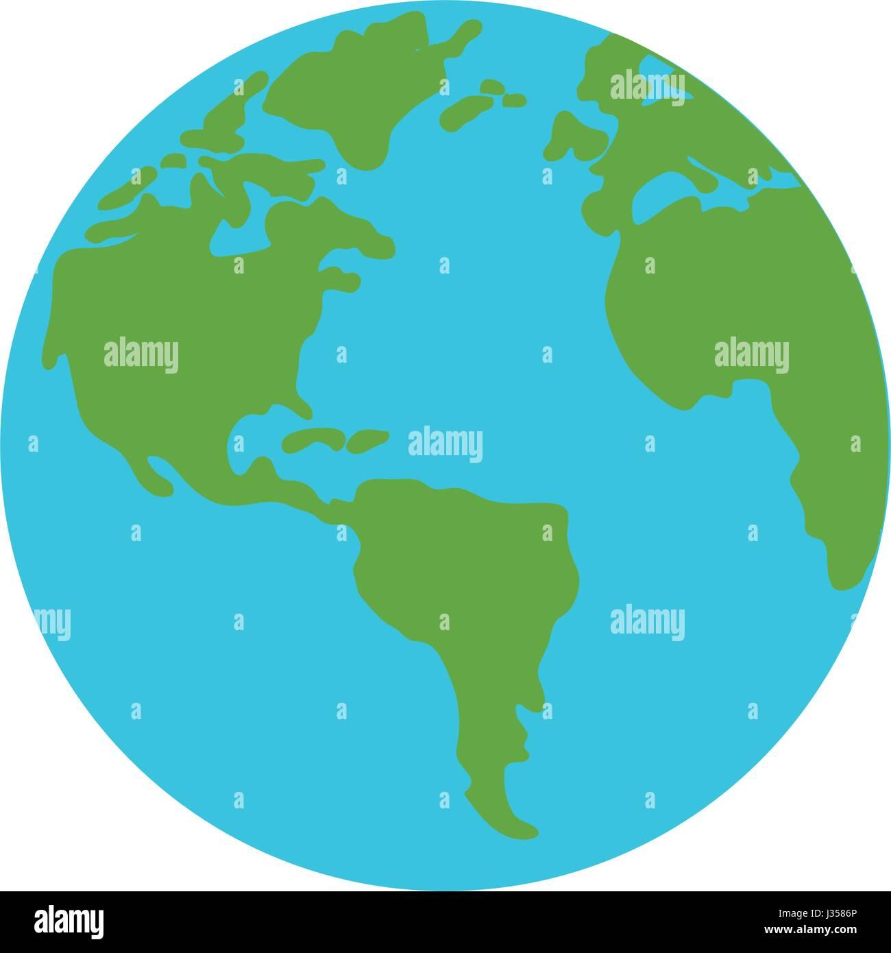 Símbolo mundial de tierra Imagen De Stock