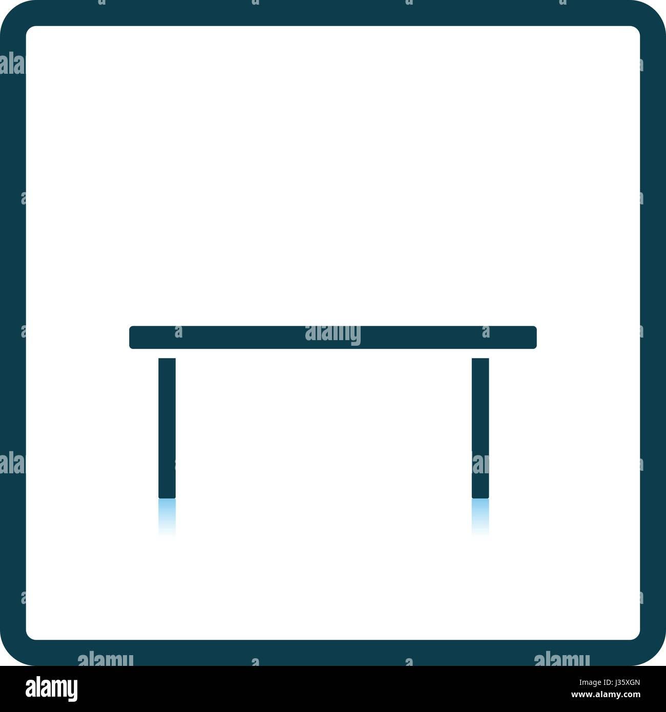 Mesa De Café icono. Diseño reflejo de sombra. Ilustración vectorial. Ilustración del Vector
