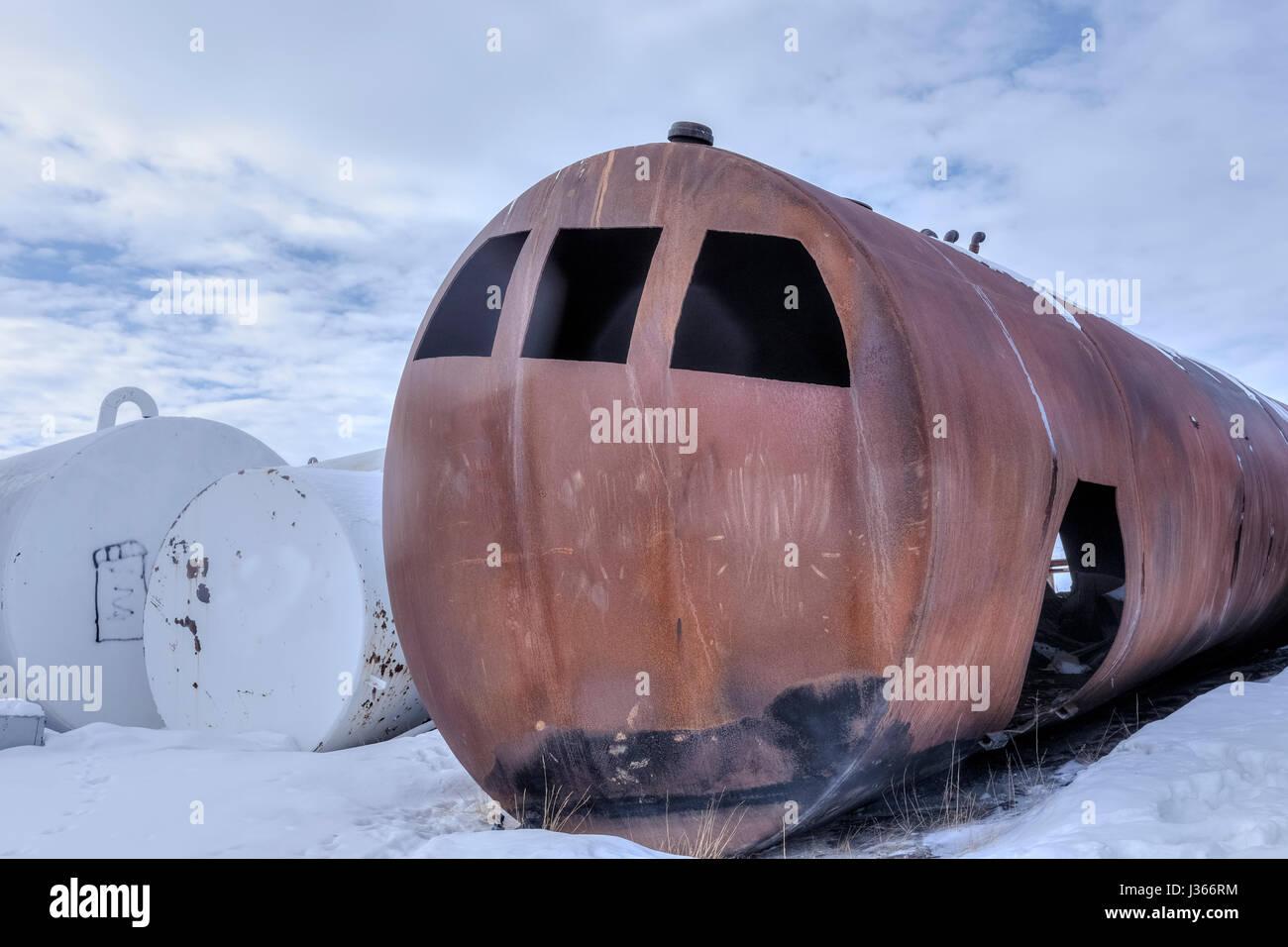 Un antiguo bunker militar Foto de stock