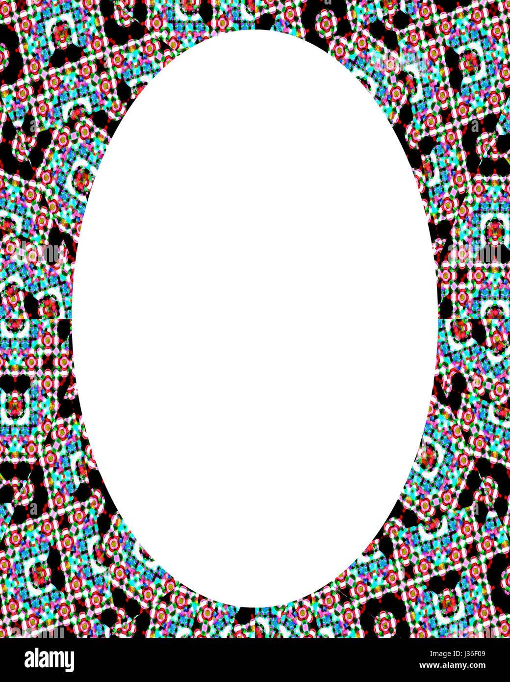 Círculo blanco de fondo del marco decorado con bordes de diseño Foto ...