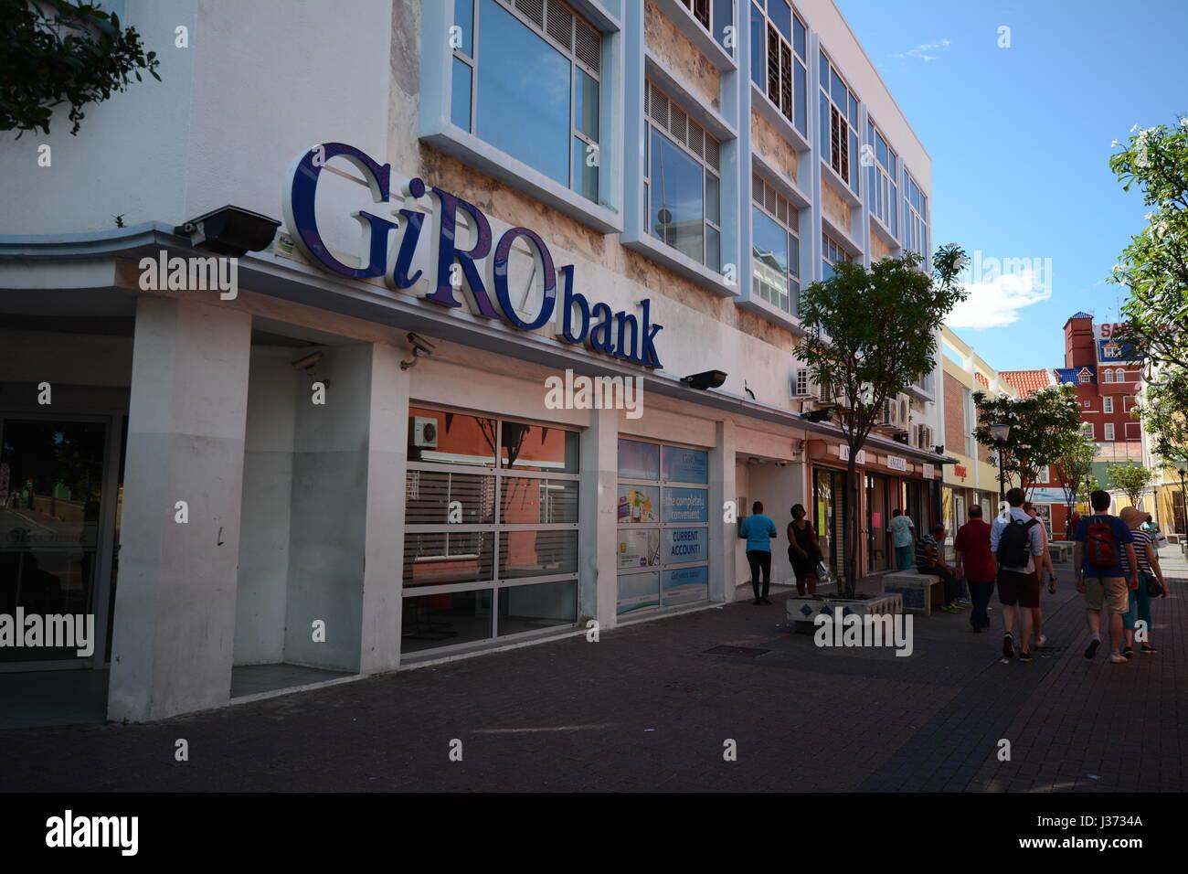 Giro Banco Caribe Curazao Imagen De Stock