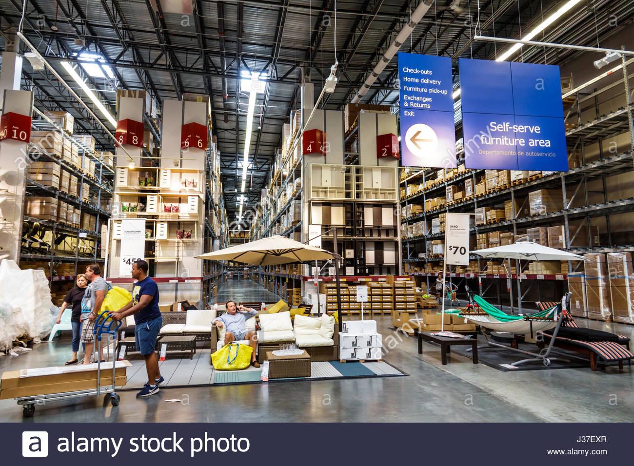 Florida, FL, Sur, Miami, Ikea, tienda, minorista, muebles