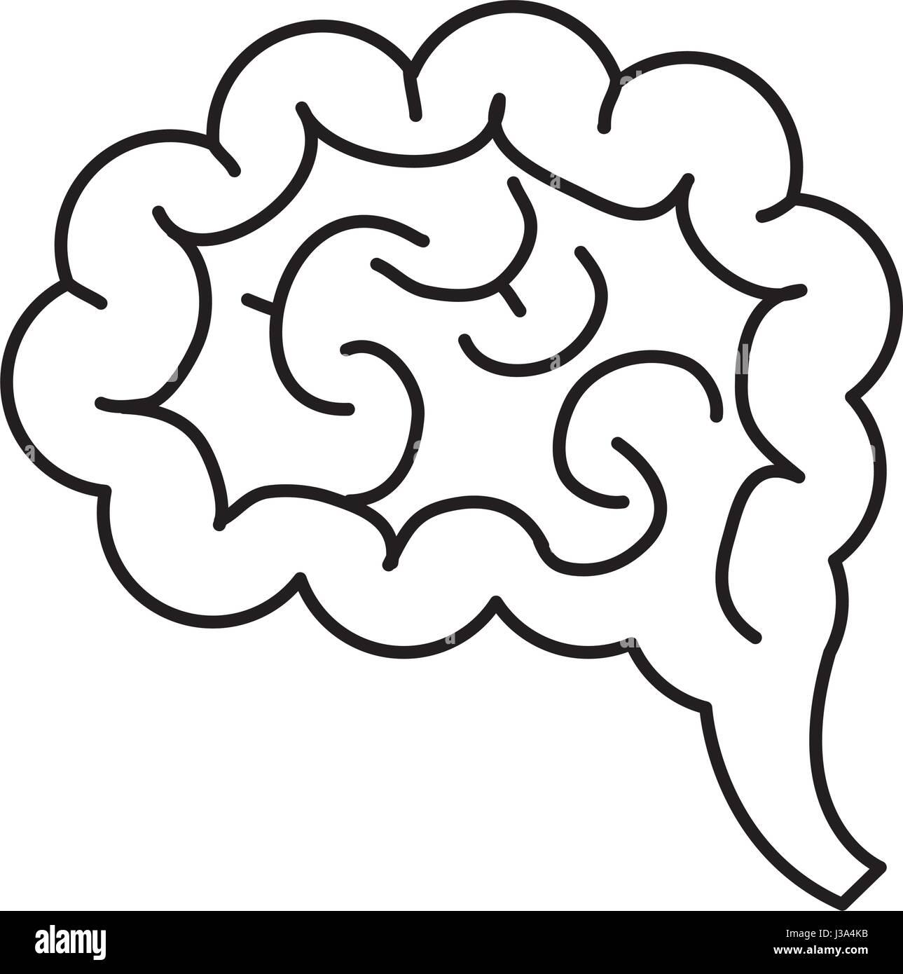 Diseño de órgano cerebral aislada Imagen De Stock