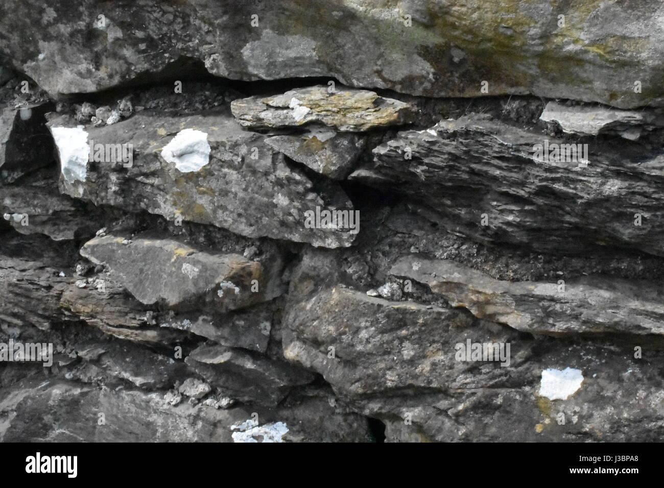 Un antiguo muro de piedra Imagen De Stock