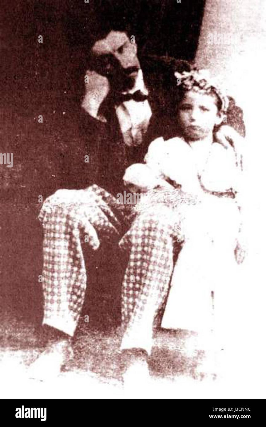 Eduardo Abaroa e hija Imagen De Stock