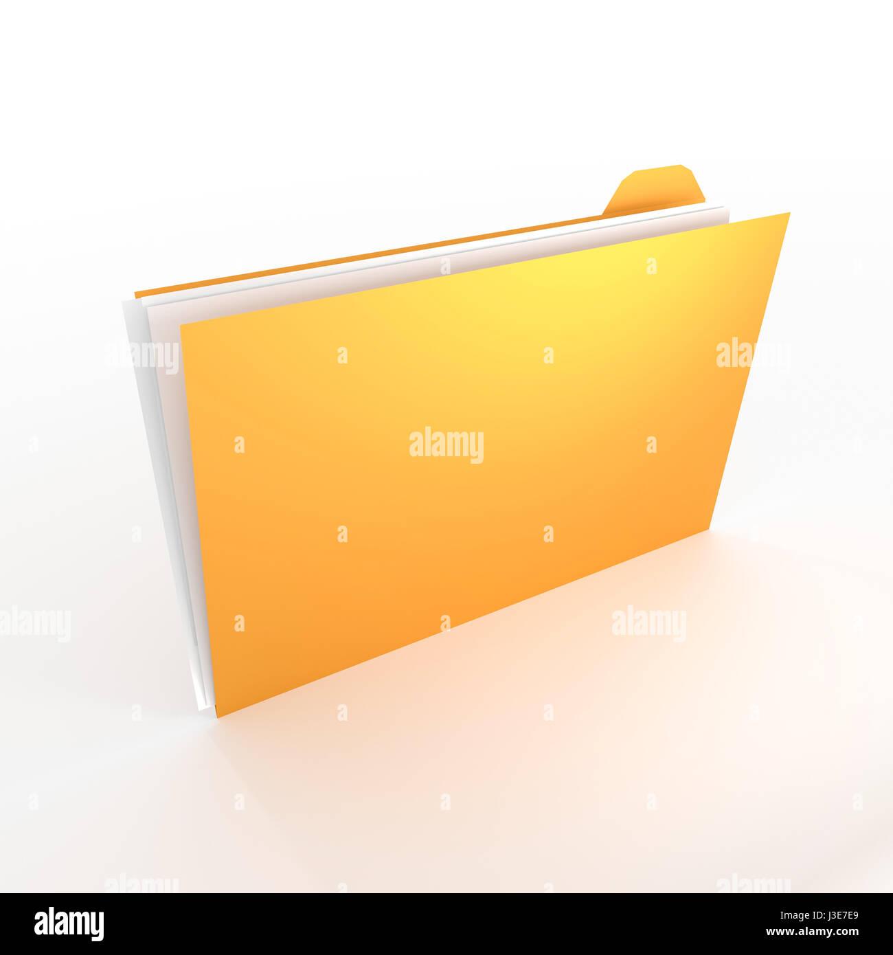 3D - gran concepto de carpeta para temas como Office, documentos, datos, investigación, etc. Imagen De Stock