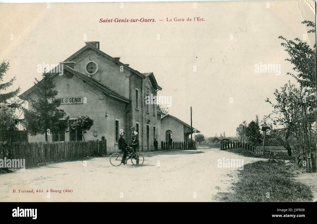 Ferrand San Genix sur Guers La Gare de l'Est Foto de stock
