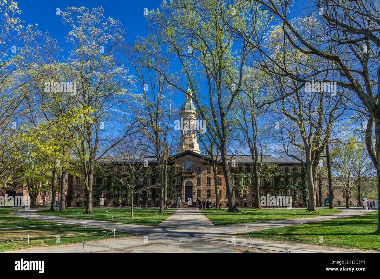 Nassau Hall, de la Universidad de Princeton, Nueva Jersey, EE.UU. Imagen De Stock