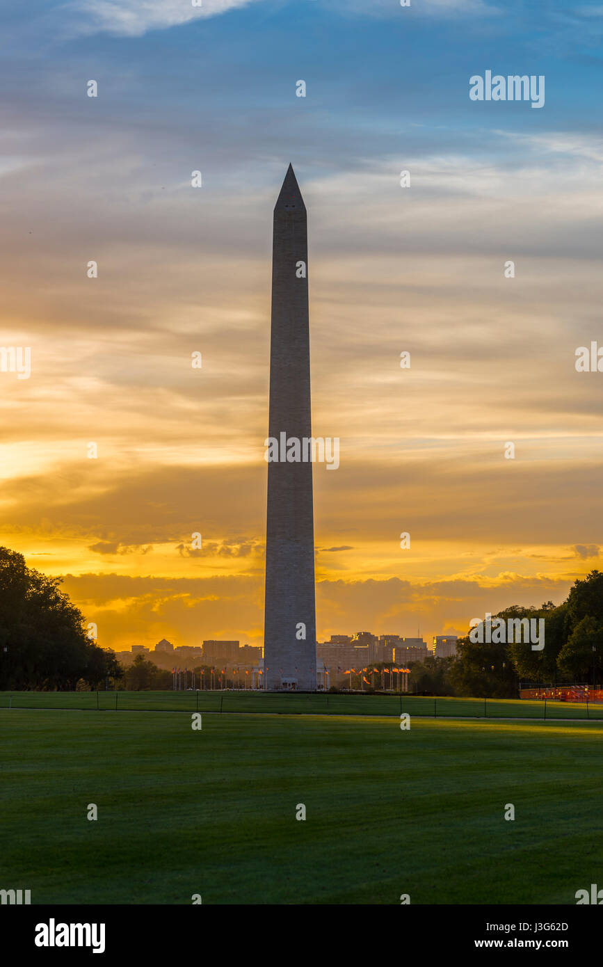 El Monumento a Washington, en Washington DC, EE.UU. Imagen De Stock