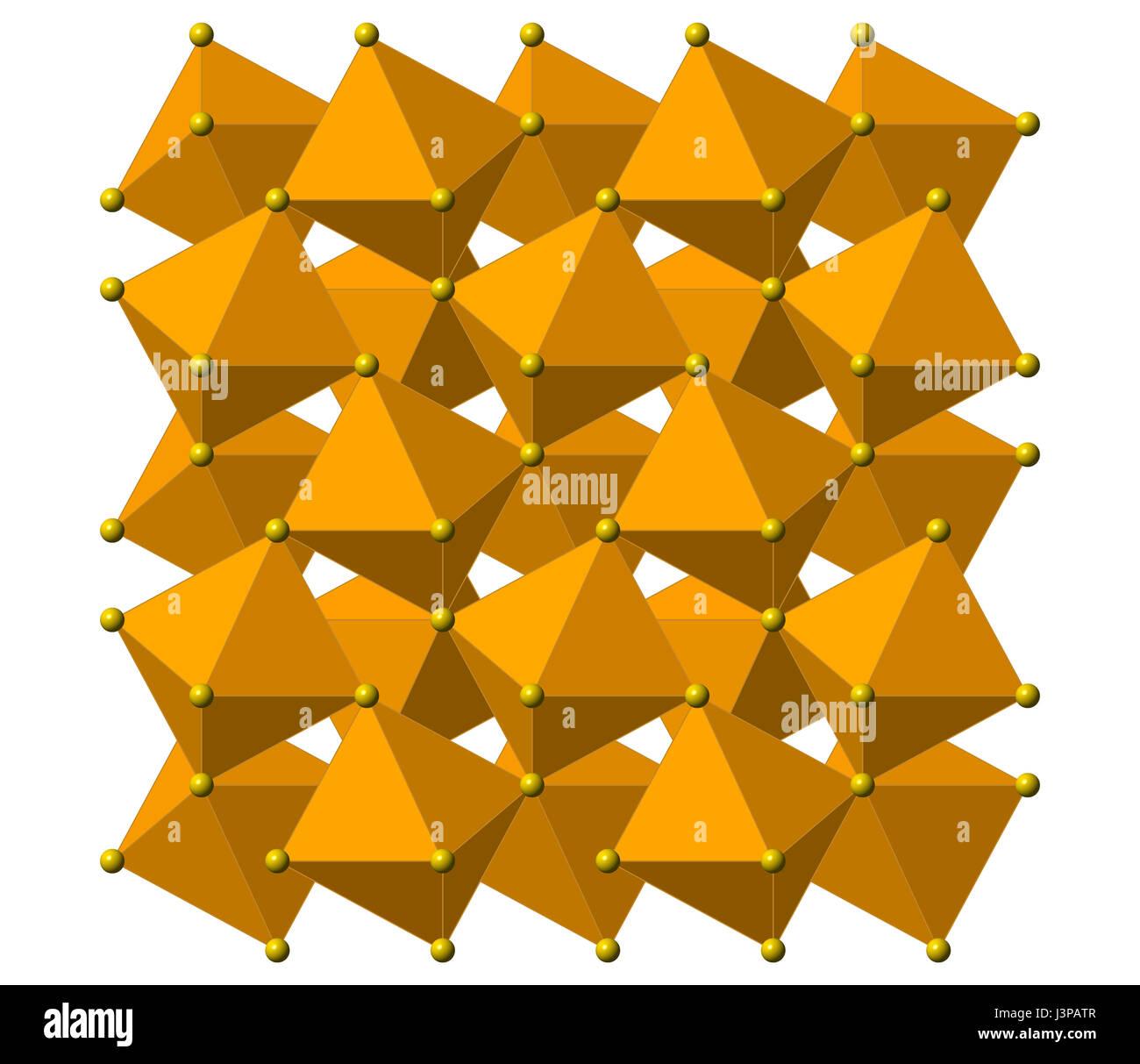 Pirita Oro Del Tonto Fe2s Una Estructura De Cristal