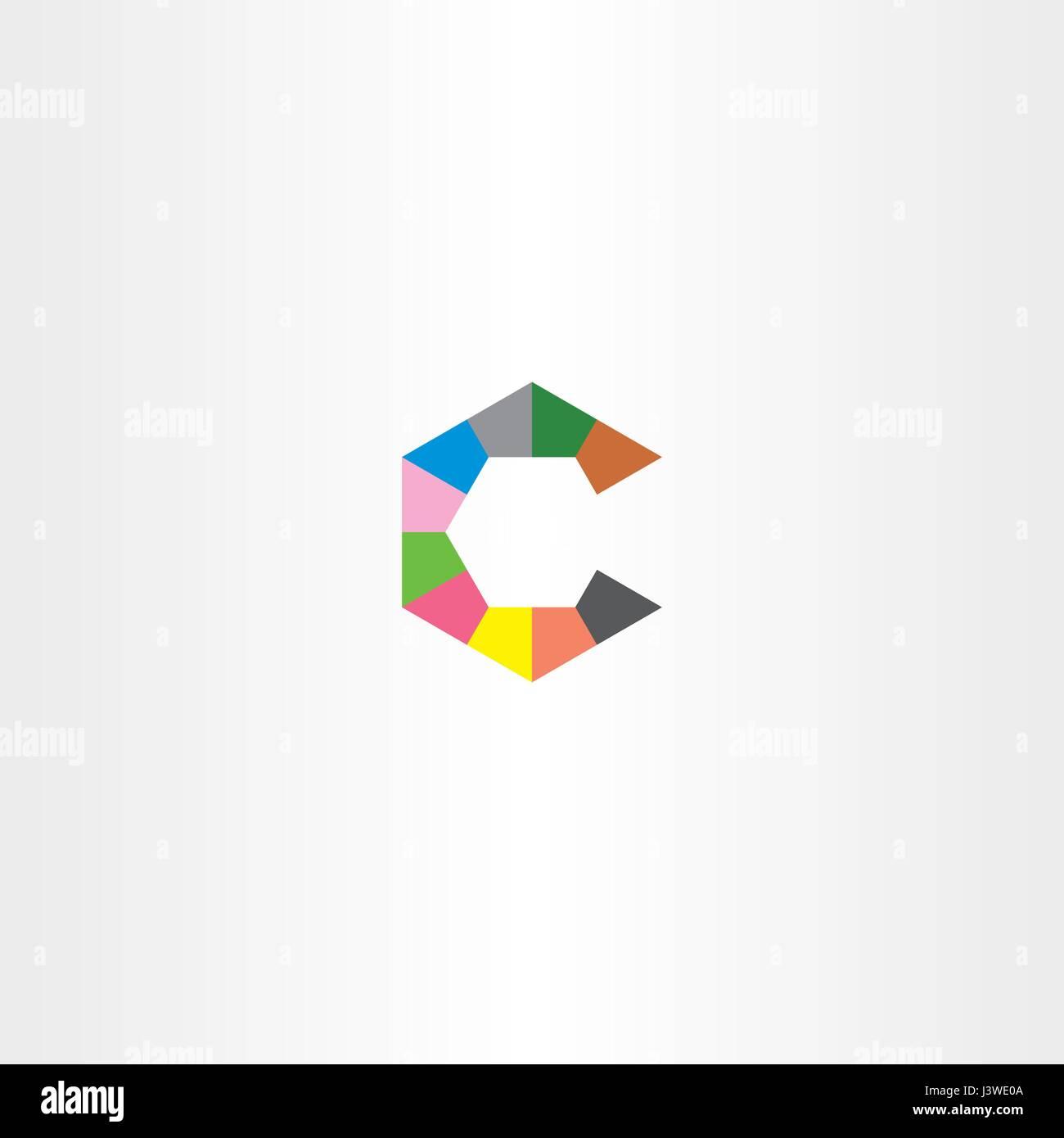 Carta c logotipo hexagonal vector icono símbolo Ilustración del ...