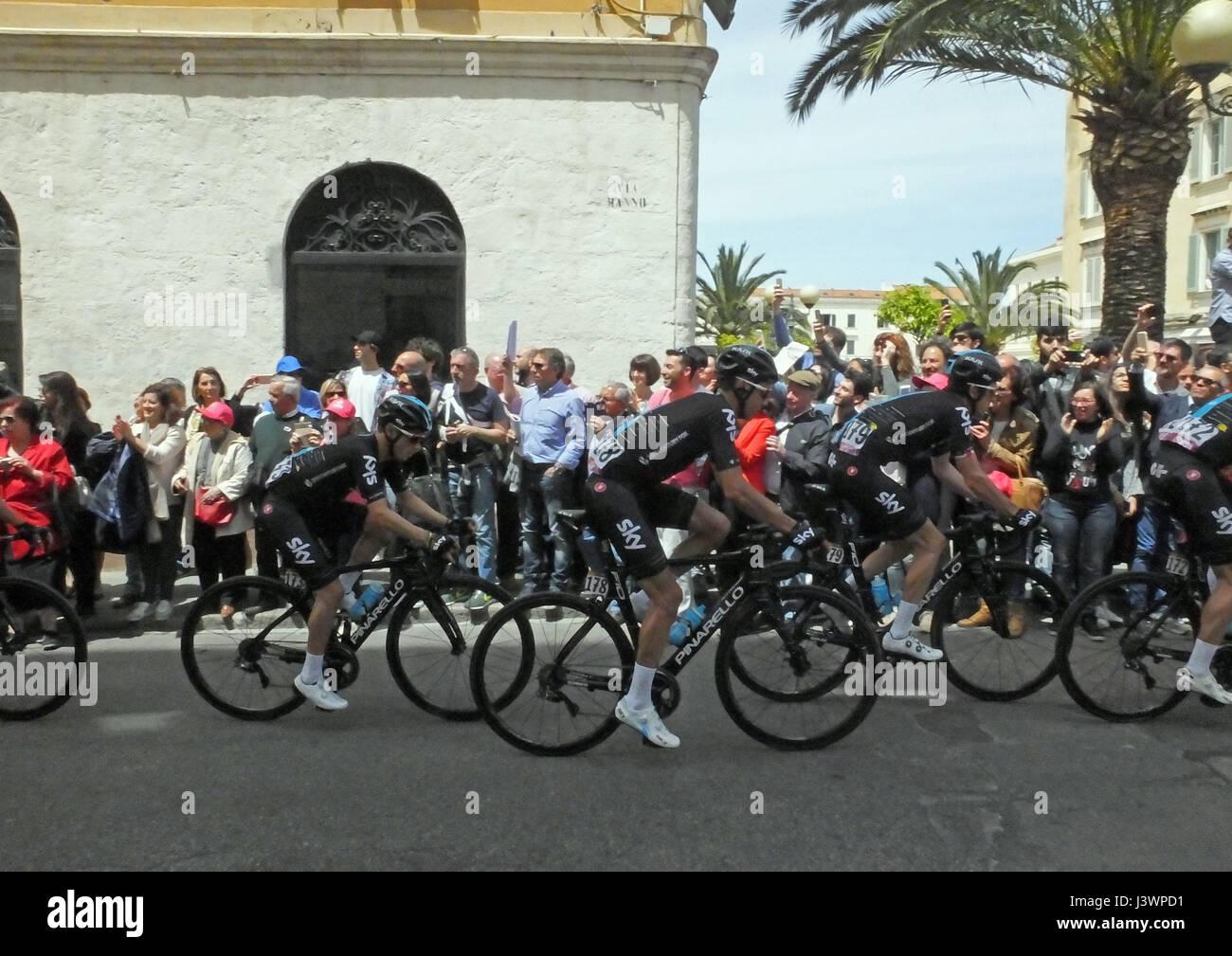 En Sassari, Cerdeña. Giro d'Italia 2017 1 etapa Alghero-Olbia Imagen De Stock