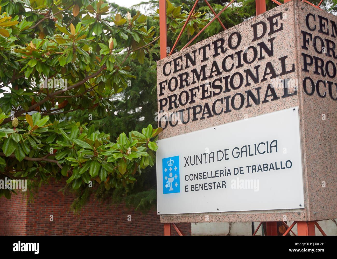 Centro de formación ocupacional, Viveiro, provincia de Lugo, en la región de Galicia, España, Europa Imagen De Stock
