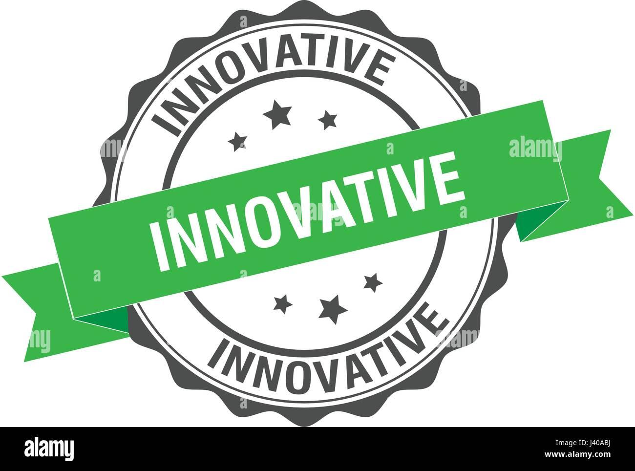 Ilustración de sello innovador Ilustración del Vector