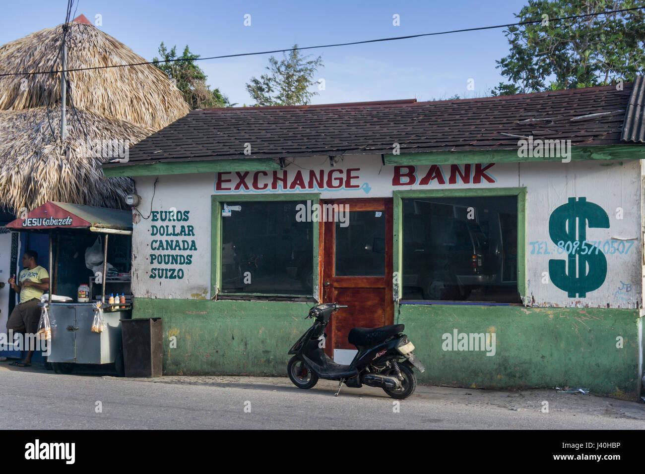 Exchange Bank, Cabaerete, República Dominicana Imagen De Stock