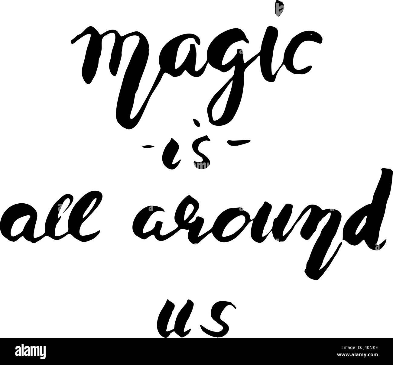 La Magia Está En Todas Partes Hand Lettering Y Tipografía