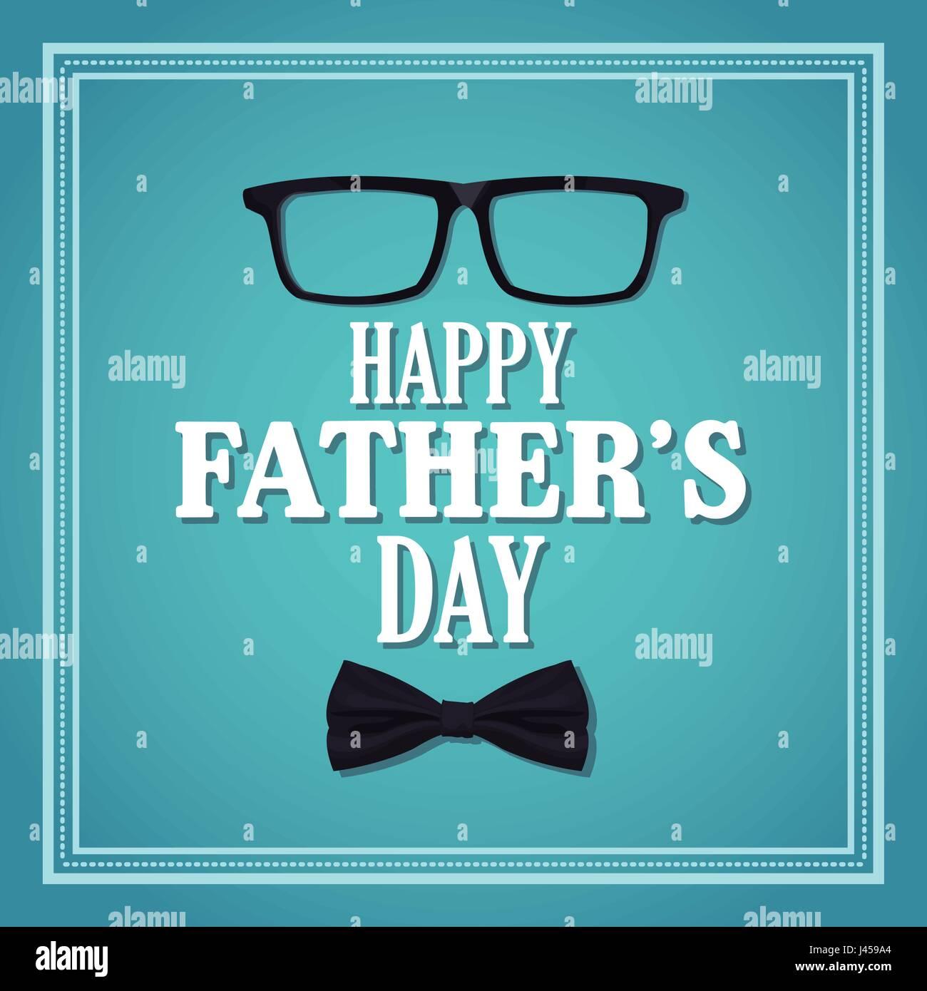 Feliz Día Del Padre Tarjeta Invitación Parte Con Gafas Y