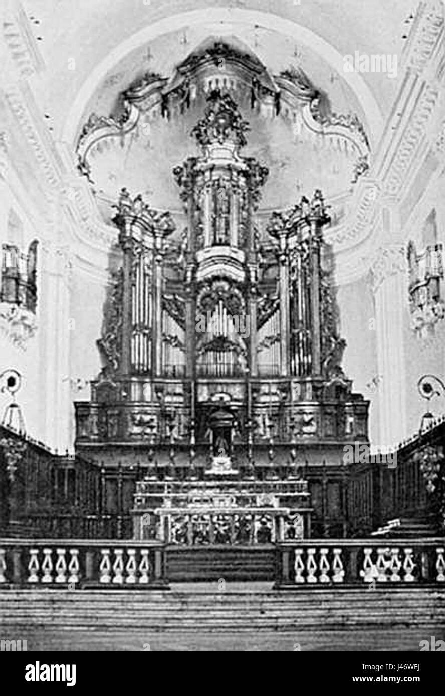 Organo di Donato Del Piano a Catania Imagen De Stock