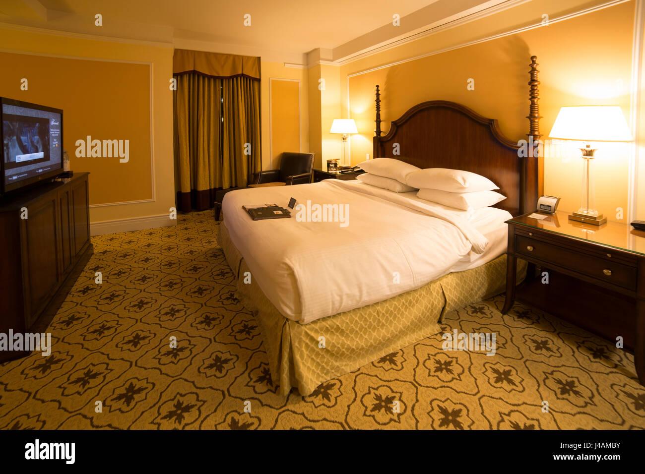 Las habitaciones del Fairmont Hotel Vancouver en Vancouver, Canadá. El hotel fue inaugurado en 1939 por el Imagen De Stock