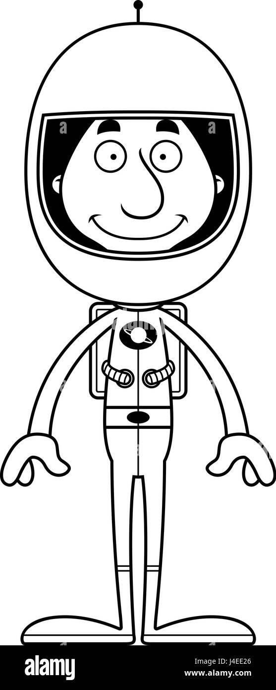 Cartoon Astronaut Man Smiling Imágenes De Stock & Cartoon Astronaut ...