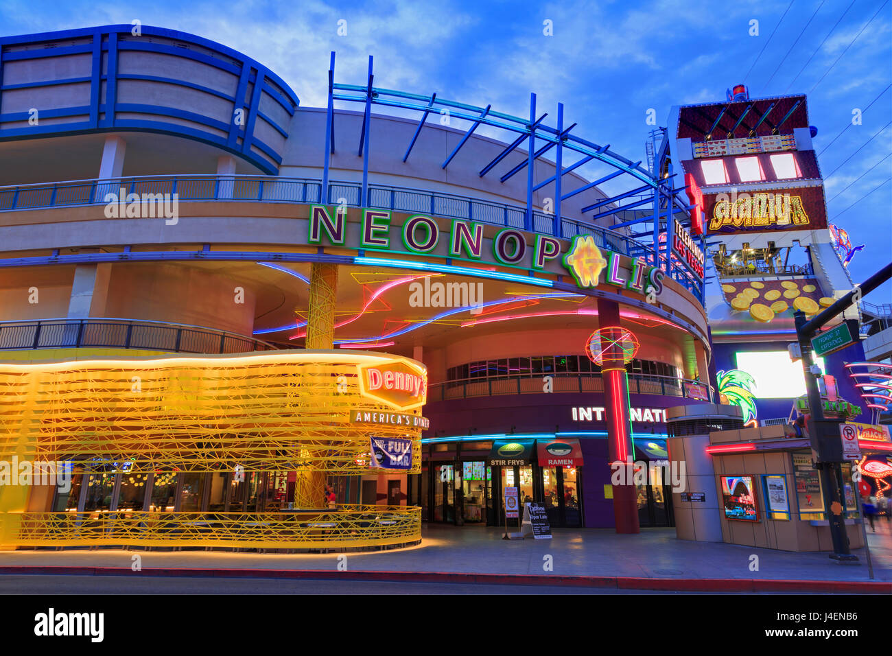 Neonopolis, Fremont Street, Las Vegas, Nevada, Estados Unidos de América, América del Norte Imagen De Stock