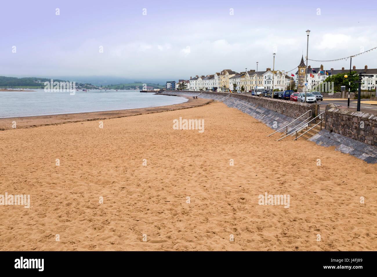 Una playa en Exmouth, que permite el acceso de perros a lo largo de cada día del año. Imagen De Stock