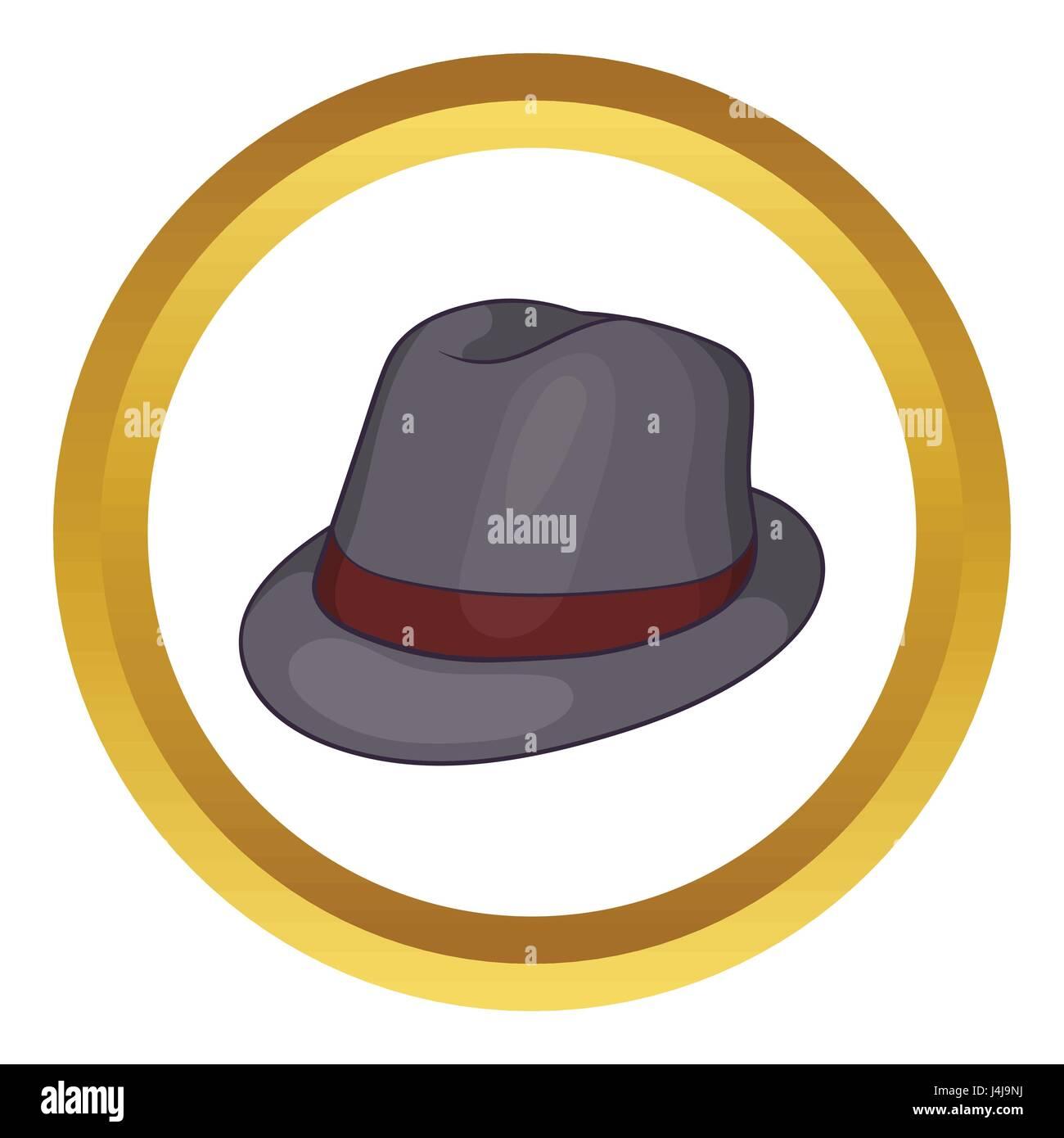 42f306eb339dc Icono de vector de sombrero gris Ilustración del Vector