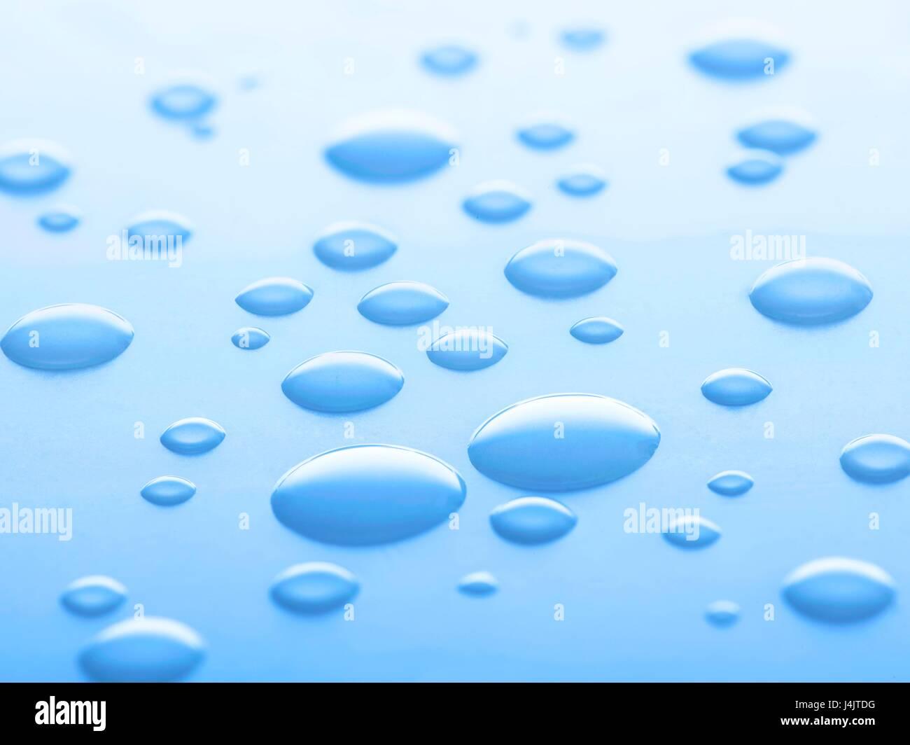 Las gotas de agua, Foto de estudio. Imagen De Stock
