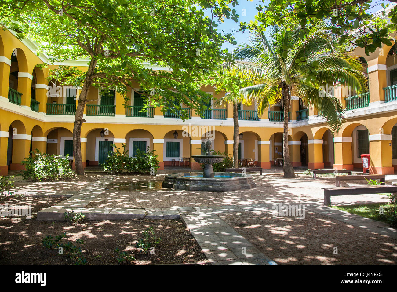 Patio en el Viejo San Juan de Puerto Rico Imagen De Stock