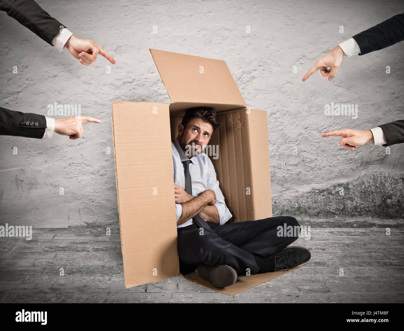 Culpable el empresario indicó por colegas Imagen De Stock