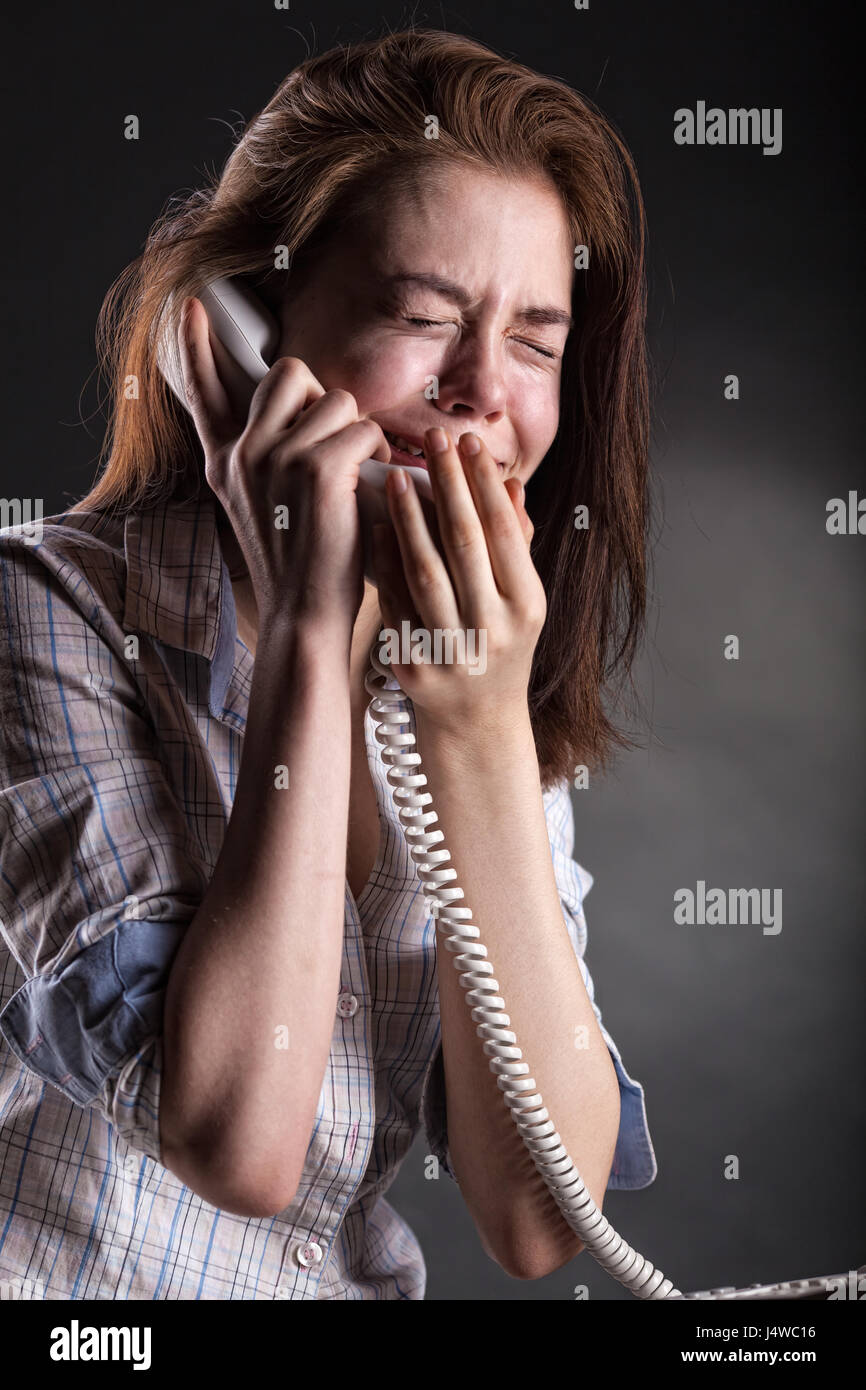 Image result for women at night crying on the phone