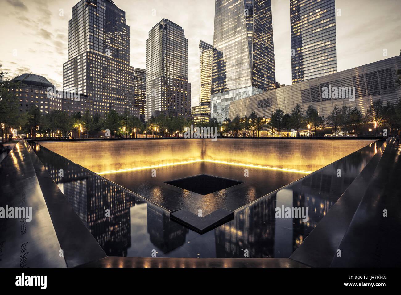 9/11 Memorial, el nacional y el Museo Memorial del 11 de septiembre Imagen De Stock