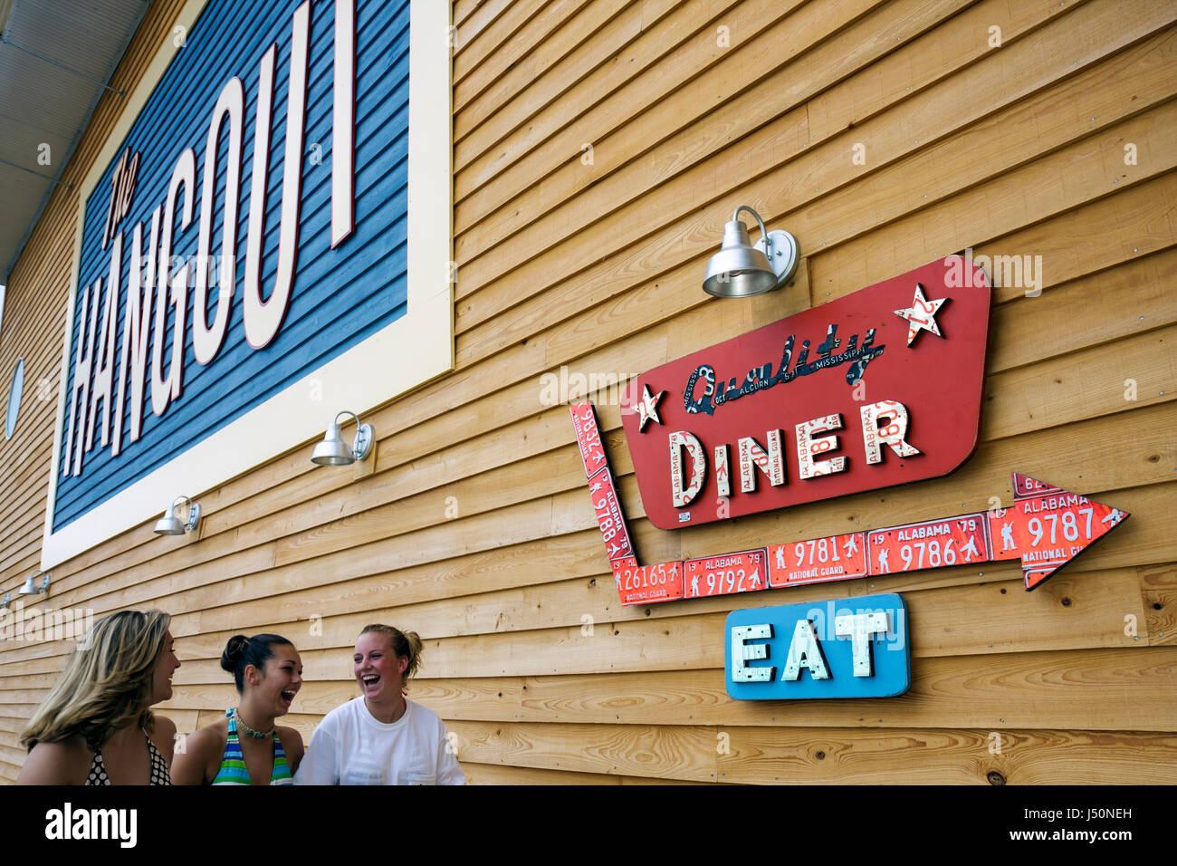 Alabama Gulf Shores el Hangout restaurante de mariscos alimentos entrada Imagen De Stock