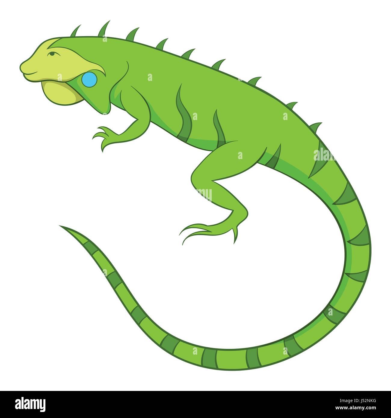 Icono De La Iguana Ilustración Vectorial De Dibujos Animados De