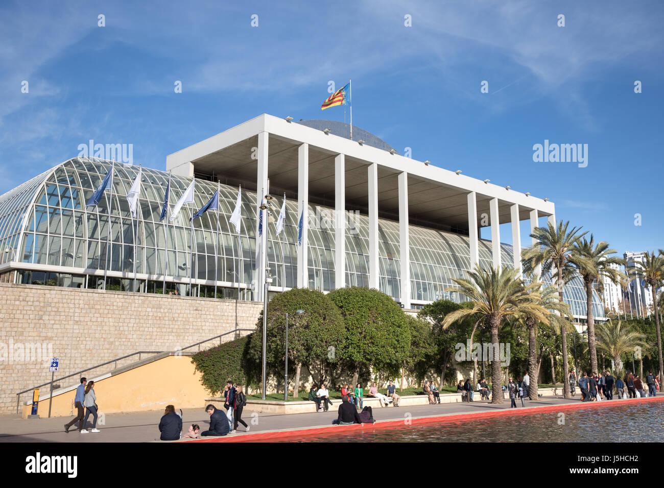 El Palau de la Música (Sala de Conciertos) enla Jardines del Turia, en Valencia, España Imagen De Stock