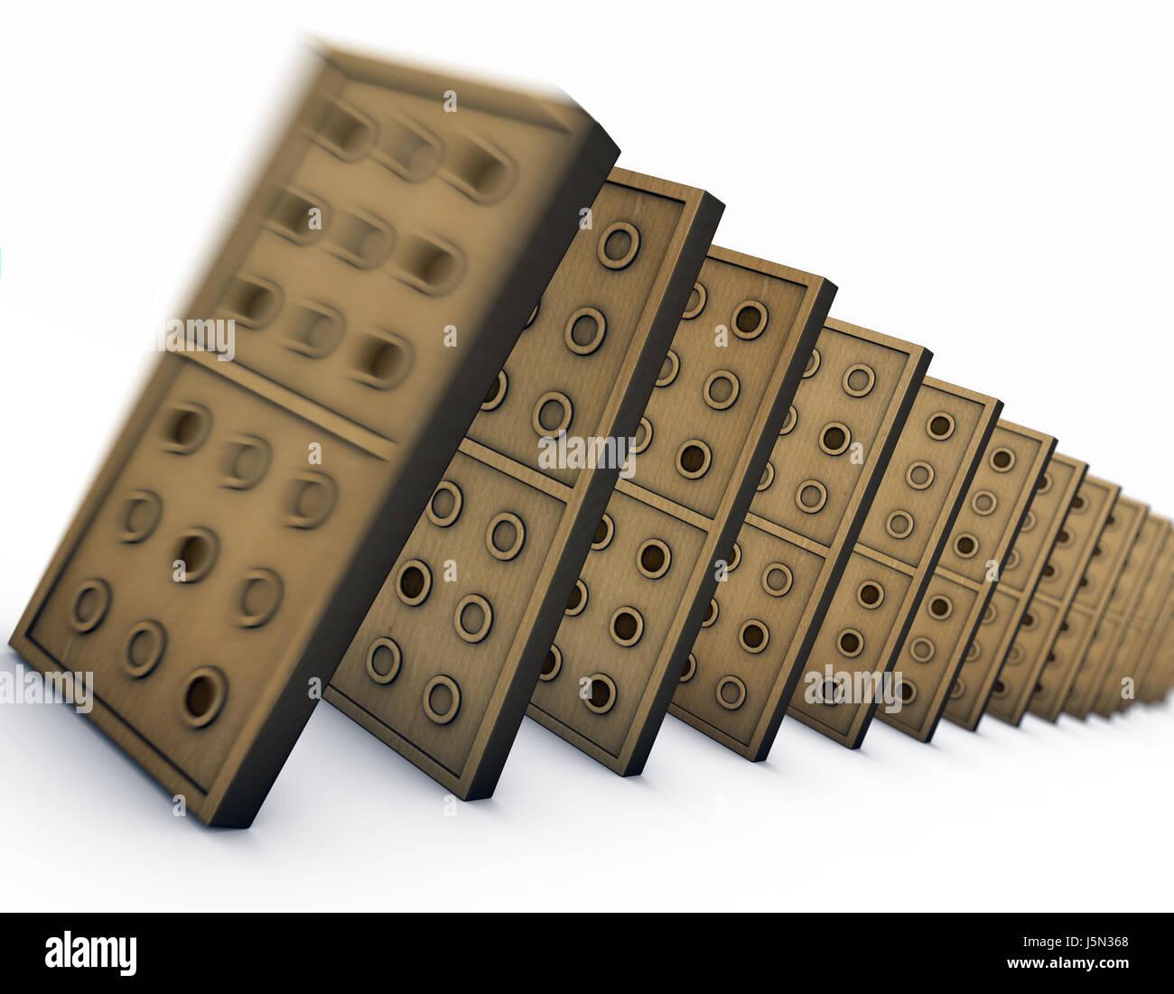 dominó Imagen De Stock
