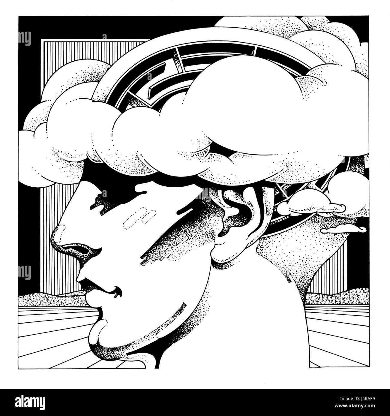 Laberinto en el cerebro humano Imagen De Stock