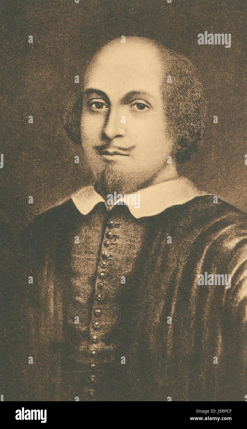 William Shakespeare (1564-1616), poeta inglés, dramaturgo y actor, Retrato Foto de stock