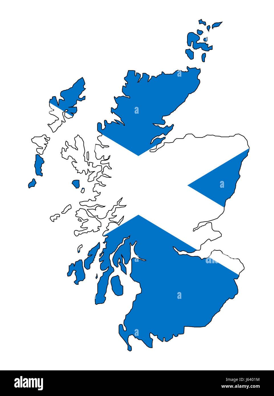 Europa Bandera Glasgow Scotland Reino Unido Edinburgh Mapa Atlas