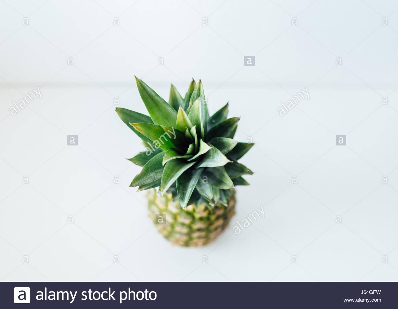 Piña fruta studio shot, un alto ángulo de visualización Imagen De Stock