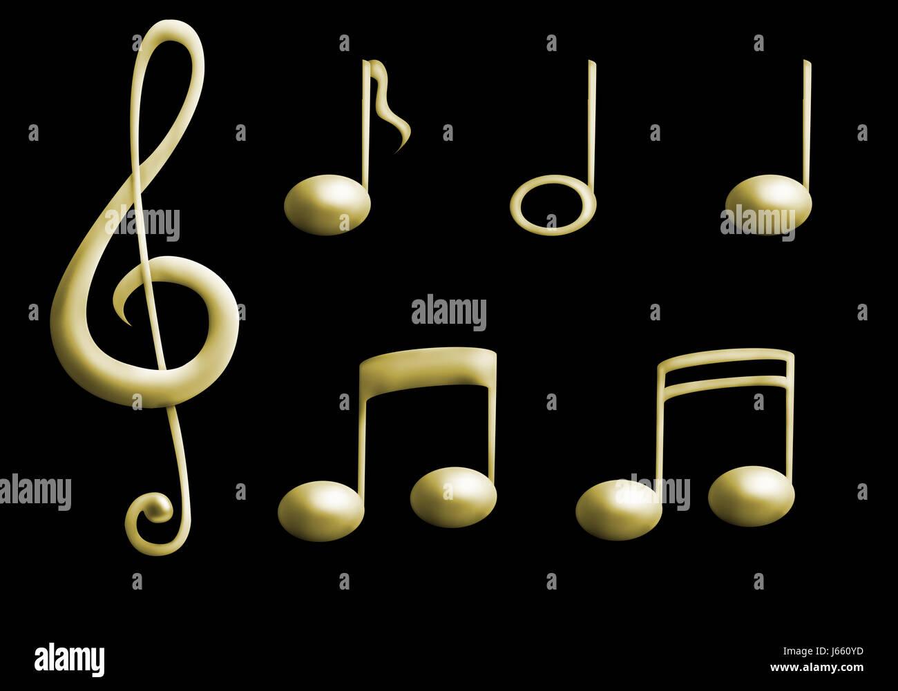 Notas Musicales Clef Clef Agudo Signo Notas Musicales Tonos De Señal