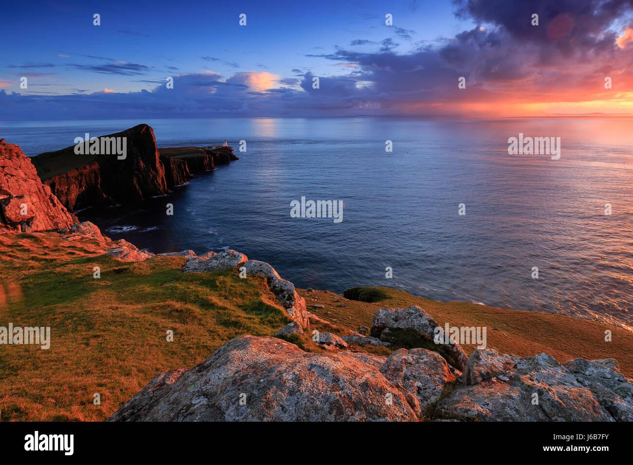 Neist Point, Isla de Skye Foto de stock