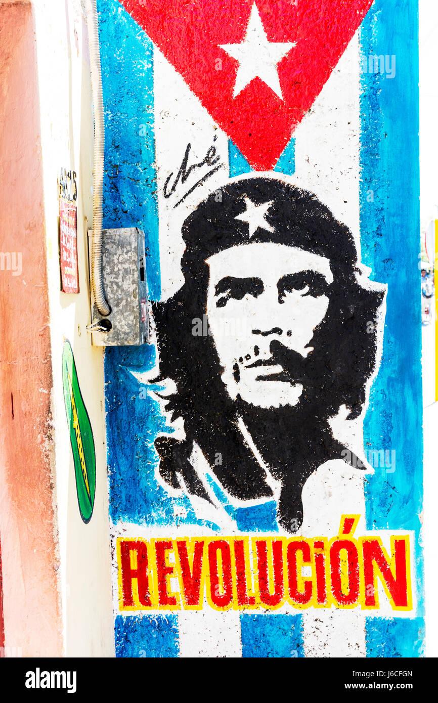 Che Guevara Portrait And Cuban Flag Imágenes De Stock   Che Guevara ... 287f0b7eec5