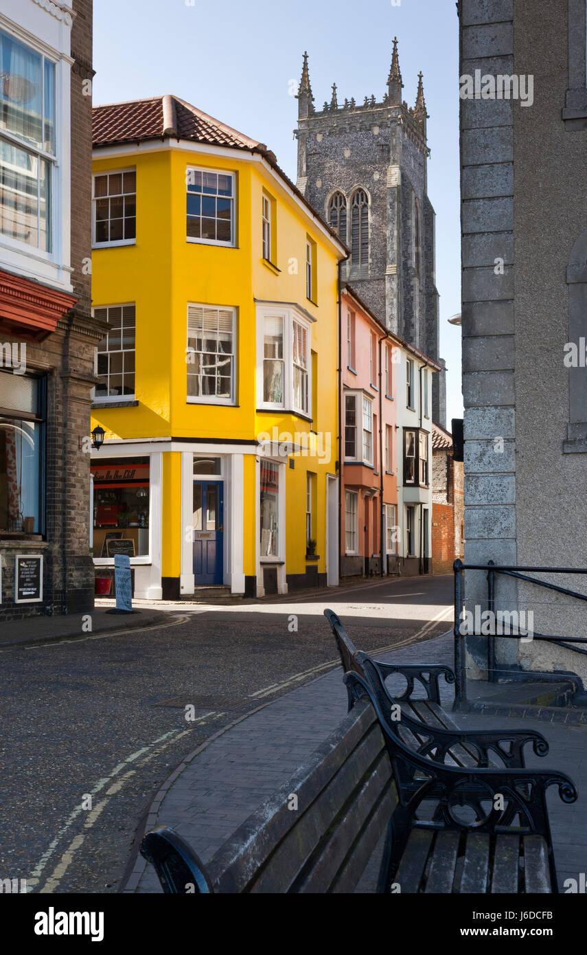 Callejuelas de Cromer, Norfolk, Inglaterra, Reino Unido. Imagen De Stock
