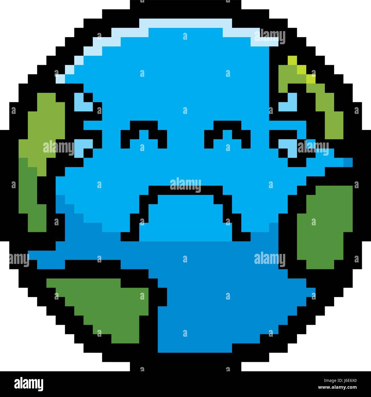 Una Ilustración De Un Planeta Tierra Llorando En Un Estilo De