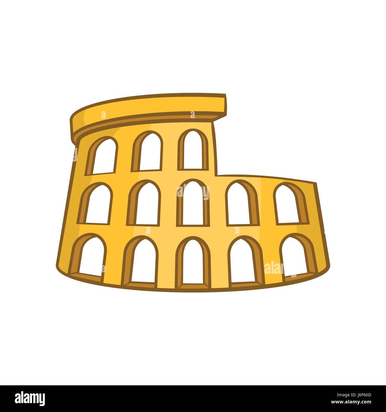 El Coliseo Romano El Icono De Estilo De Dibujos Animados
