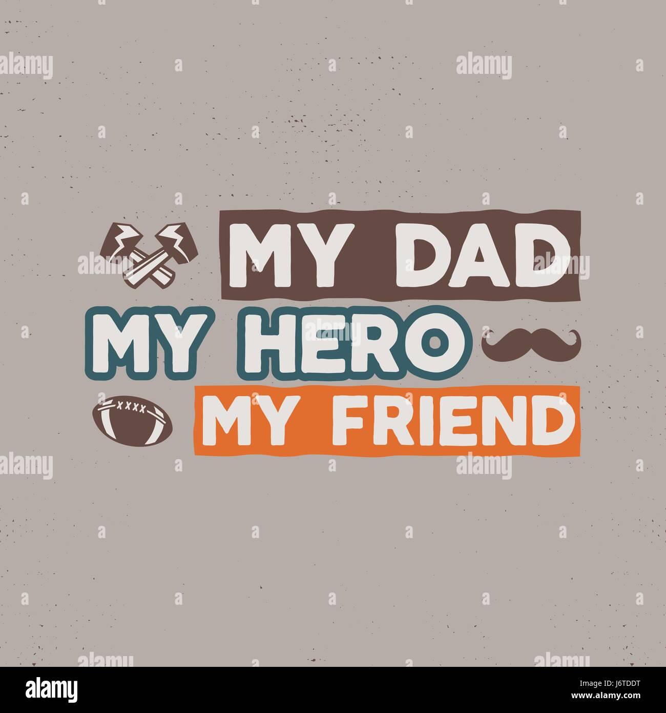 Insignia del Día de los padres. Typography sign - mi padre a98d536a22c27